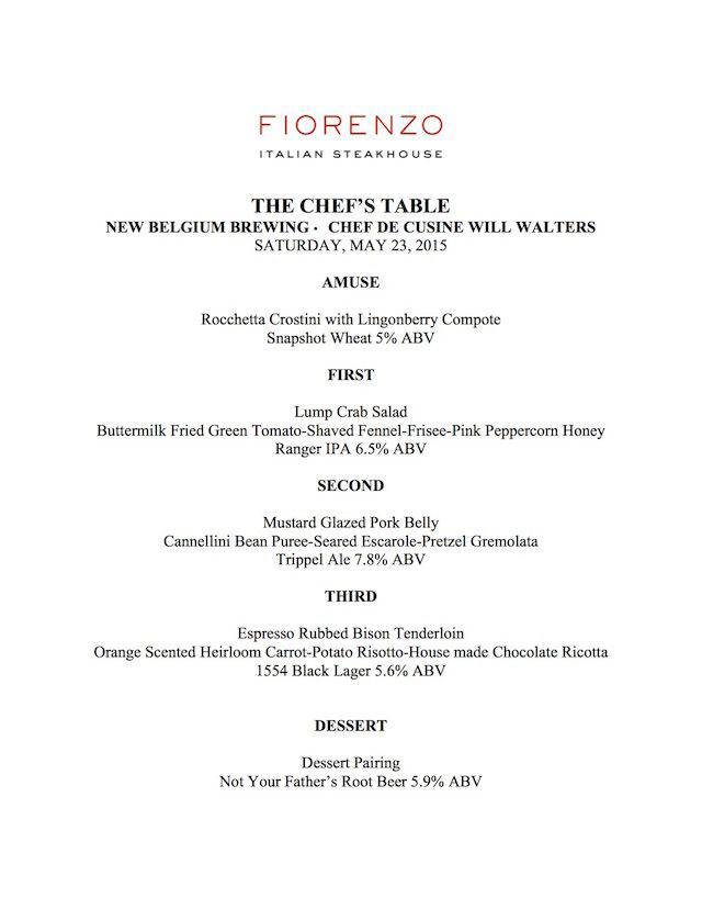 Fiorenzo Beer Dinner