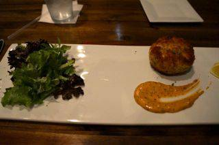 Rusteak crabcake
