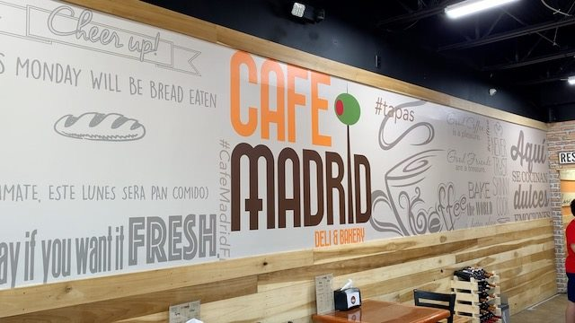 Cafe Madrid wall