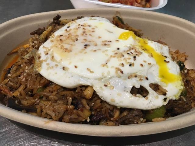 Bibimbop Usually Bibimbap On Menus Is Sort Of A Korean Fried Rice Or At Least It Is The Way It S Prepared Here Kimchi S Korean Grill Offers Guests