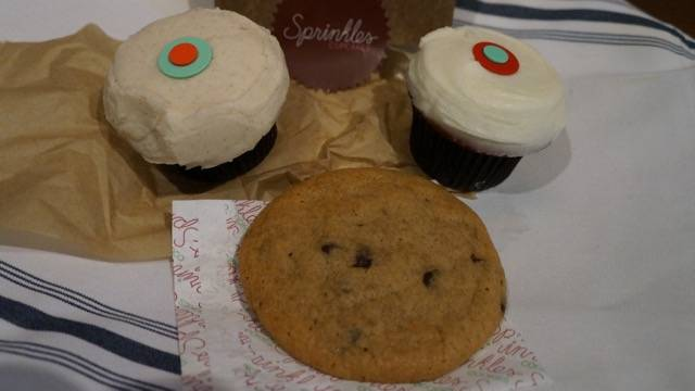 Sprinkles cupcakes and cookies