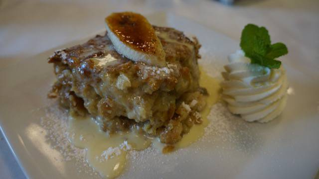 Two Chefs Brunch bread pudding