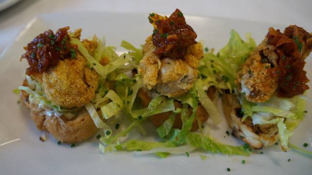 Two Chefs Brunch oyster blt